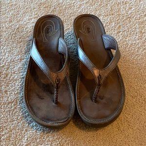Olukai Wedge Flip Flops Size 7